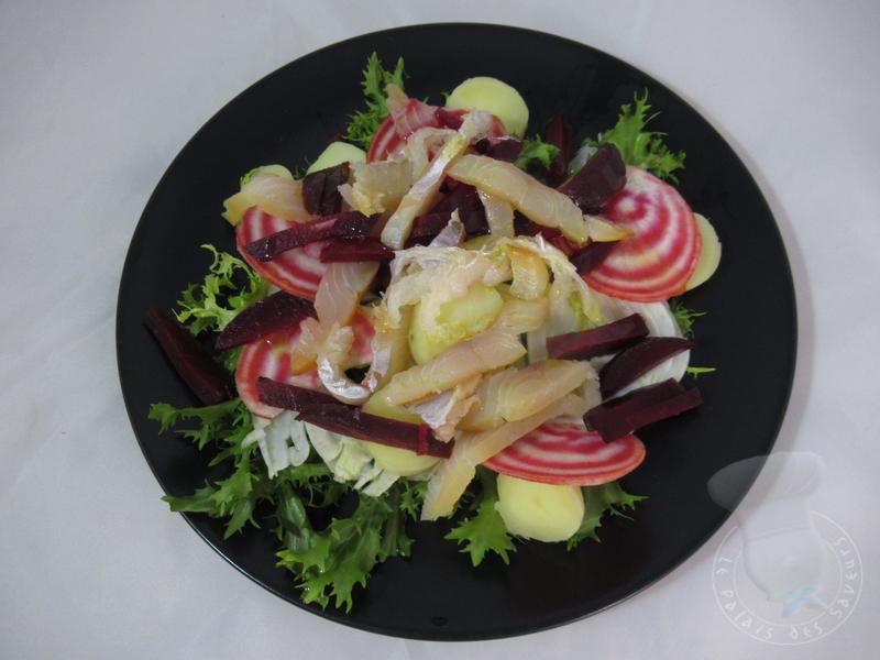 Salade tiède de haddock et pommes de terre