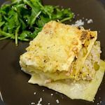 Lasagnes saumon et poireaux