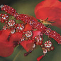 Parure un peu baroque avec plaque en hidden et pendouillis chic : le bracelet