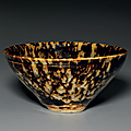 A jizhou 'tortoise-shell' glazed bowl, southern song dynasty (1127-1279)