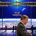 ➡️le secrétaire et membre du congrès de l'usaf veut déclassifier les programmes spatiaux secrets