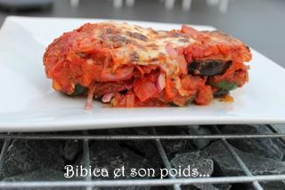 Gratin d'aubergines, courgettes, tomates +á la mozzarella coupe 2