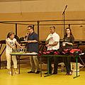 accueil des Festivaliers le Vendredi 6 juillet 2012