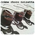 Crème dessert chocolat noisette