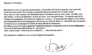 Lettre gds parents Emma