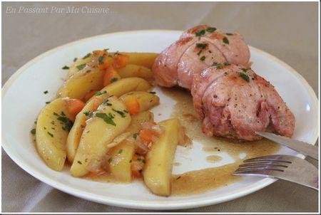 paupiettes de porc forestières aux pommes de terre