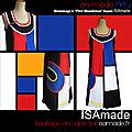 Robe Mondrian créateur fabriquée en France