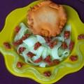 Pas de recette, mais une jolie assiette ! tielle, concombre et tomates confites