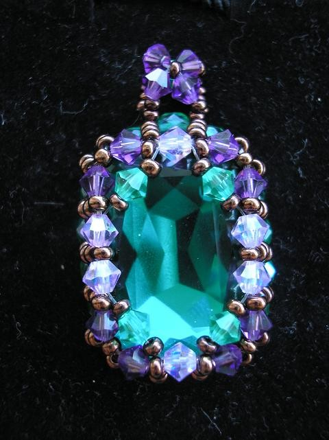 Pendentif recoutangle emerald