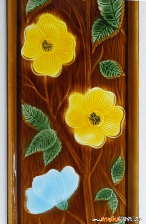 SARREGUEMINES-Plat-cake-fleurs-4-muluBrok-vintage