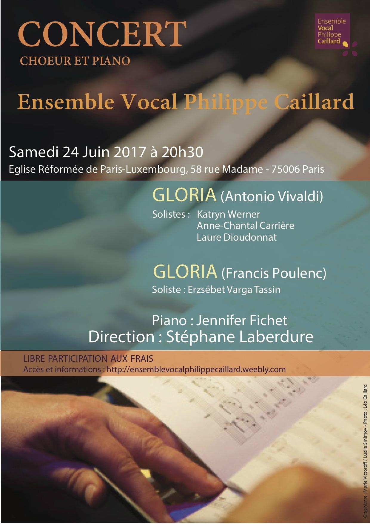 Gloria de Vivaldi, Gloria de Poulenc