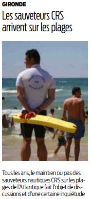 2019 07 02 SO Les sauveteurs CRS arrivent sur les plages