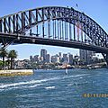 Harbour Bridge vu de Sydney Cove