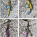 Bijoux de sac cabochons avec mes photos
