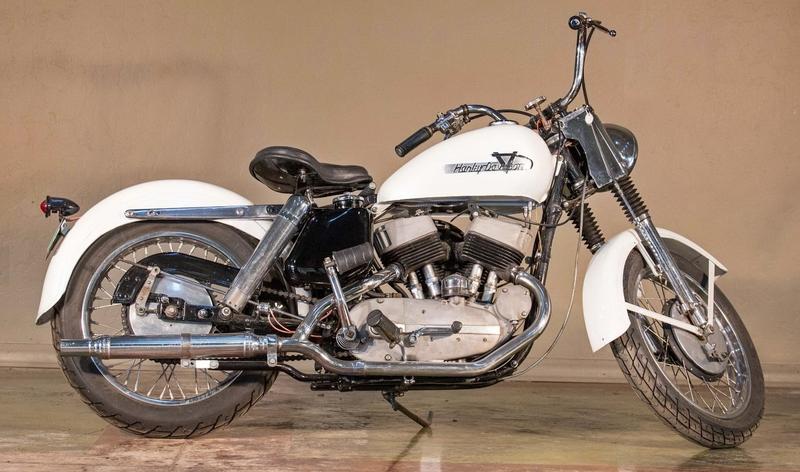 1952 Harley K côté pots