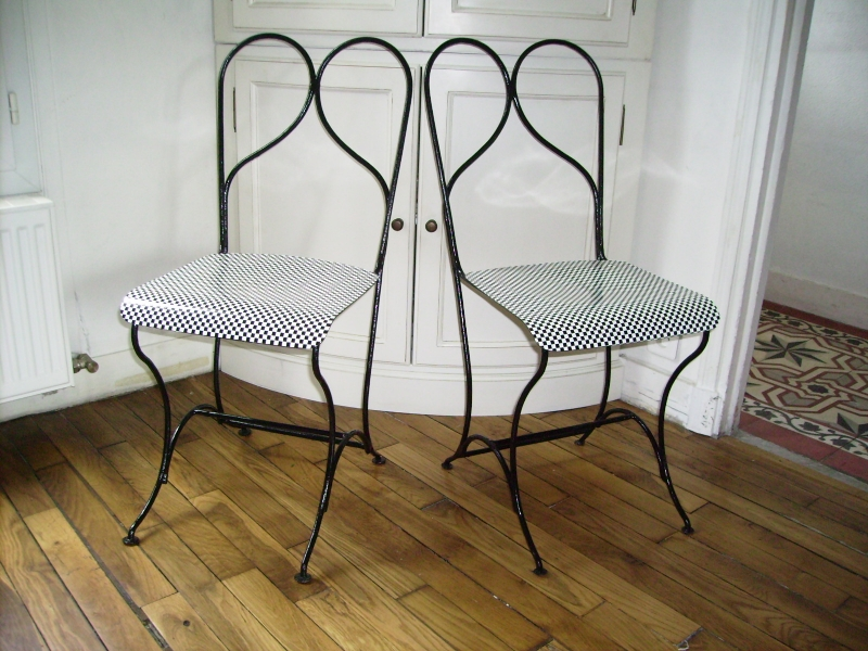 Chaise fer forgé 60'
