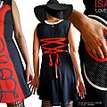MOD 398B Robe Rouge Saint Valentin coeur pois noir fantaisie originale cadeau femme made in France