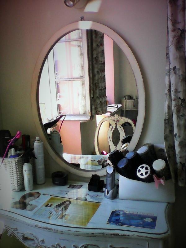 salon de coiffure plan de travail