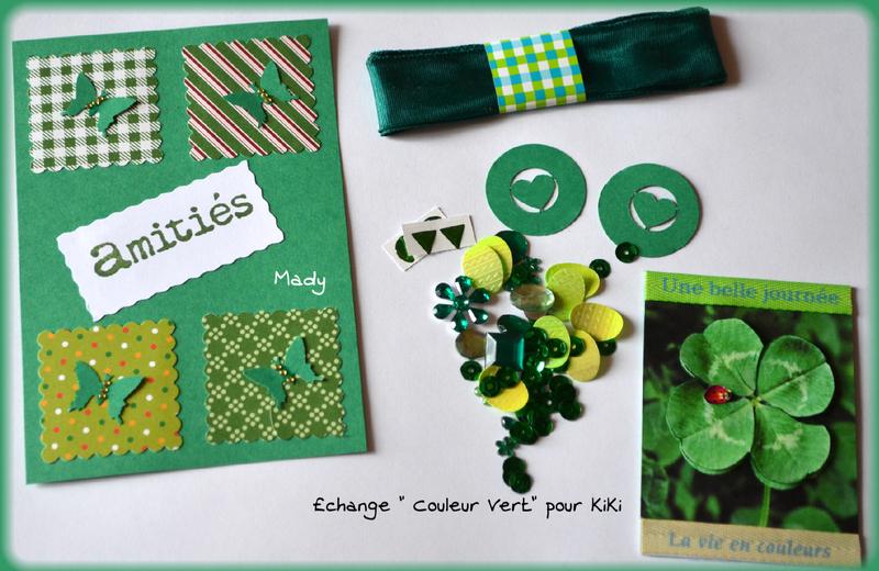 échange vert pour KiKi chez Manou