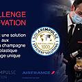 Challenge: air france veut remplacer les verres à champagne en cabine economy par des verres biologiques et compostables