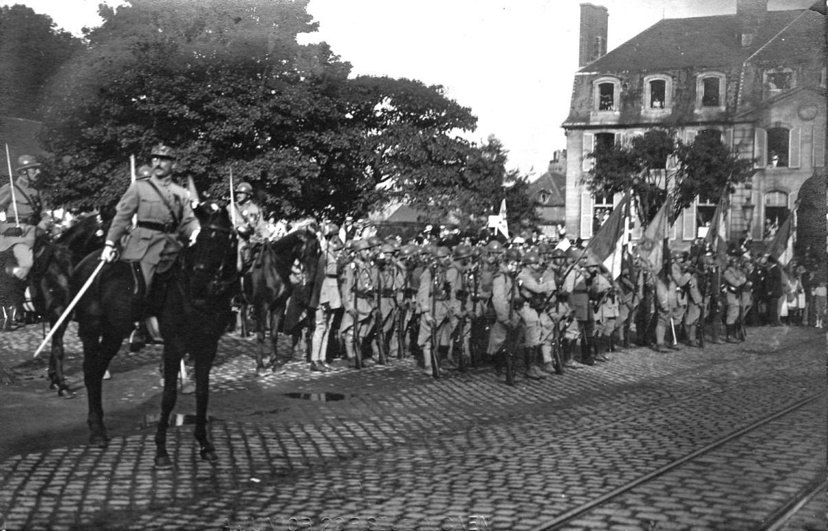 Caen, Festivités du Retour des Poilus le 13 septembre 1919, Rassemblement des troupes