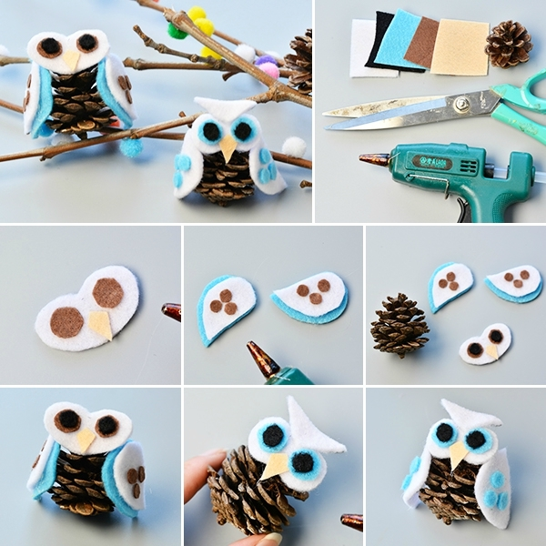 600-Pandahall-Tutorial-on-How-to-Make-Simple-Felt-Owl-with-Pine-Cone-for-Kids