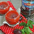 Gaspacho express aux olives