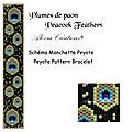 Schémas pour manchette peyote - peyote pattern bracelet : nuit étoilée - coeurs - mosaïque - fées - libellules