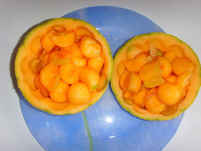 Salade de melon au gingembre confit