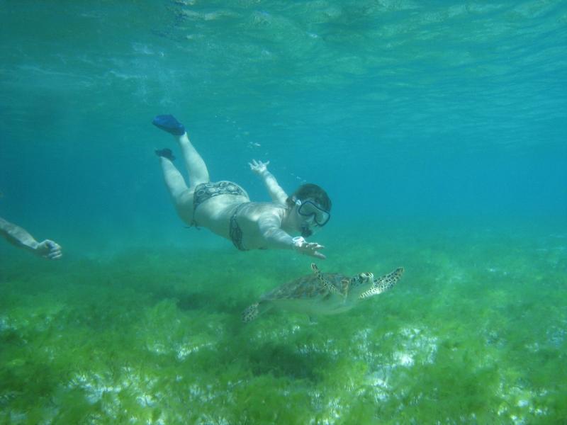 Superwoman sous l'eau...c'est moué !