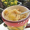 Mug crumble banane cacahuète