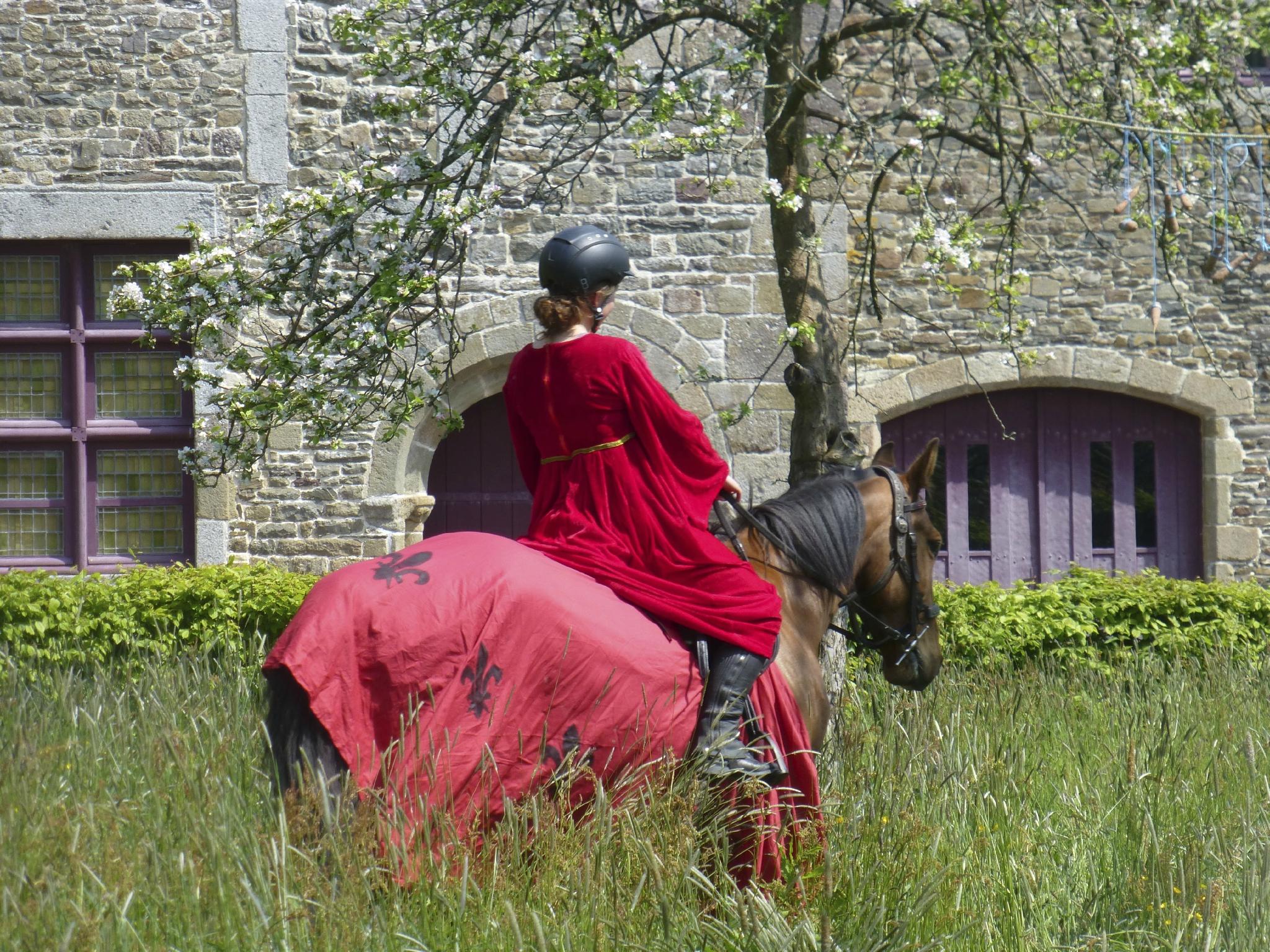 balade à cheval médiévale - Abbaye de Hambye (230)