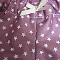 Culotte BIANCA en coton vieux rose étoilé de blanc - noeud gros-grain blanc (3)
