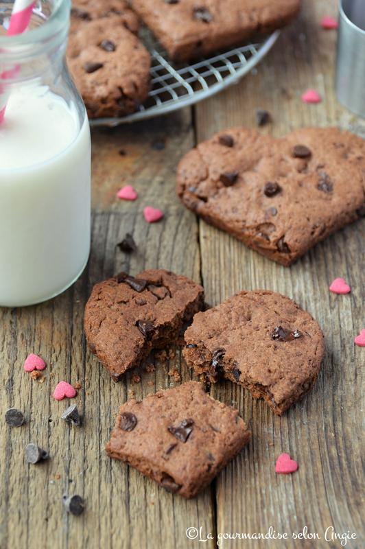 cookies vegan tout chocolat coeur pour saint valentin (3)
