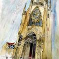a08 Metz portique de la cathédrale raide