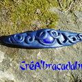Barrette 1 : elfique bleue