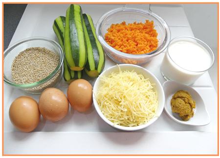 gratin de quinoa, courgettes et carottes3