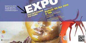 invite exposition Marie Claire Bombarde et Erver Vurpillot2