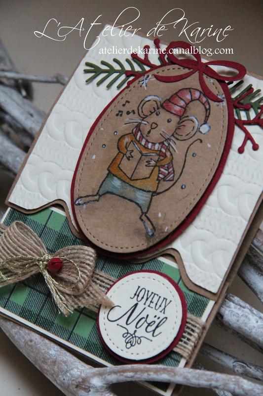 Carte pochette cadeau de Noël 6