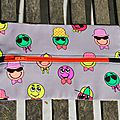 Trousse smileys (orange)
