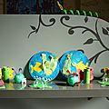 Chenilles x 2, tortues, lucioles