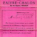 Le distillateur faivre-chalon , rue des chaprais : récit d'une enquête...