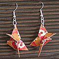 Boucles d'Oreilles simples Papillons oranges