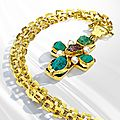 Gold and gem-set sautoir, robert goossens for chanel, france, circa 1960