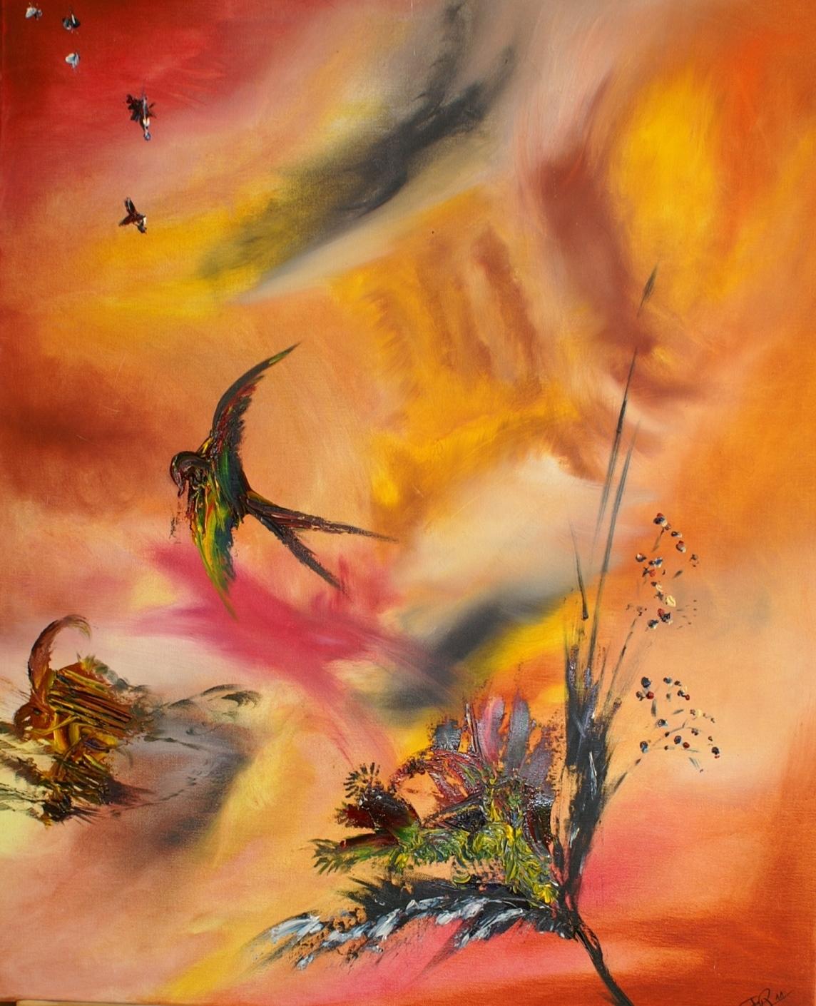 Oiseau de paradis - huile2011- 60x73cm- (n°3 ND)