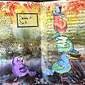 Brusho/infusions - art journal
