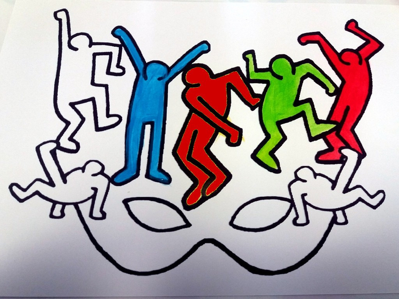 350-MASQUES-Masque Keith Haring (13B)