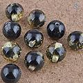 Lot de 60 perles noires et dorées 9 mm (3€ port compris)
