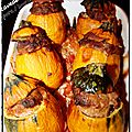 Courgette farcis boeuf/porc au four