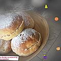 Beignets au four fourrés à la confiture ( 160 cal/ par beignet)